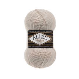 Пряжа Alize Superlana Klasik - 599 слоновая кость, Цвет: 599 слоновая кость