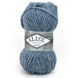 Пряжа Alize Superlana Maxi - 806 джинс меланж, Цвет: 806 джинс меланж