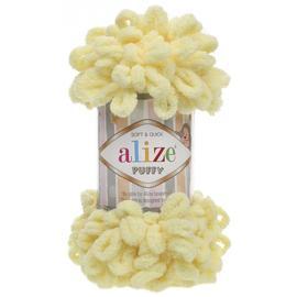Пряжа Alize Puffy - 13 св.лимон, Цвет: 13 св.лимон