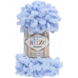 Пряжа Alize Puffy - 183 голубой, Цвет: 183 голубой
