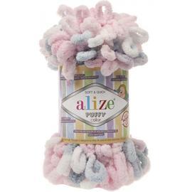 Пряжа Alize Puffy Color - 5864 роз/серый, Цвет: 5864 роз/серый