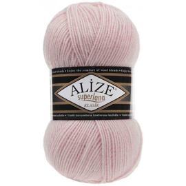 Пряжа Alize Superlana Klasik - 271 жемчужно-розовый, Цвет: 271 жемчужно-розовый