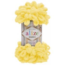 Пряжа Alize Puffy - 216 желтый, Цвет: 216 желтый