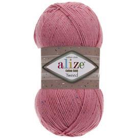 Пряжа Alize Cotton Gold Tweed - 33 темно-розовый, Цвет: 33 темно-розовый