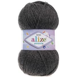 Пряжа Alize Sekerim Bebe - 196 серый, Цвет: 196 серый