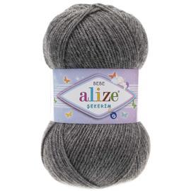 Пряжа Alize Sekerim Bebe - 197 темно-серый меланж, Цвет: 197 темно-серый меланж