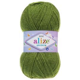 Пряжа Alize Sekerim Bebe - 210 зеленый, Цвет: 210 зеленый