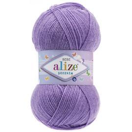 Пряжа Alize Sekerim Bebe - 247 лиловый, Цвет: 247 лиловый