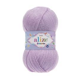 Пряжа Alize Sekerim Bebe - 27 лиловый, Цвет: 27 лиловый