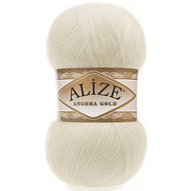 Пряжа Alize Angora Gold - 01 кремовый, Цвет: 01 кремовый