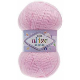 Пряжа Alize Sekerim Bebe - 185 розовый, Цвет: 185 розовый