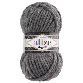 Пряжа Alize Superlana Megafil - 182 серый меланж, Цвет: 182 серый меланж