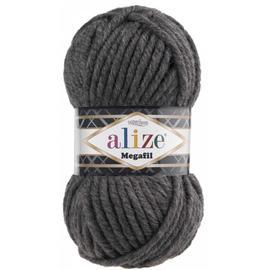 Пряжа Alize Superlana Megafil - 196 темно-серый меланж, Цвет: 196 темно-серый меланж