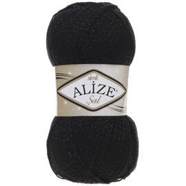 Пряжа Alize Sal Simli - 60 черный, Цвет: 60 черный