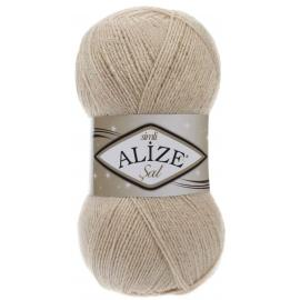 Пряжа Alize Sal Simli - 67 молочный беж, Цвет: 67 молочный беж