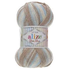Пряжа Alize Baby Best Batik - 6657 бежево-голубой, Цвет: 6657 бежево-голубой