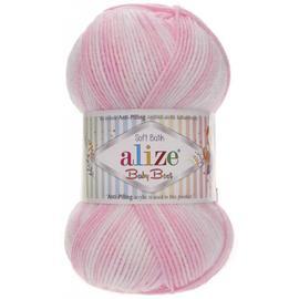 Пряжа Alize Baby Best Batik - 6660 розово-белый, Цвет: 6660 розово-белый
