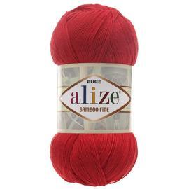 Пряжа Alize Bamboo Fine - 56 красный, Цвет: 56 красный