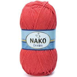 Пряжа Nako Denim - 11583 красный коралл, Цвет: 11583 красный коралл