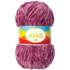 Пряжа Nako Lily - 2970 т.брусничный, Цвет: 2970 т.брусничный