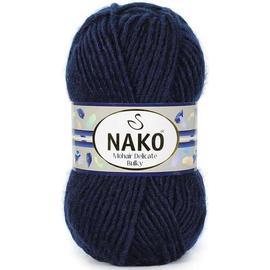 Пряжа Nako Mohair Delicate Bulky - 6194 темно-синий, Цвет: 6194 темно-синий