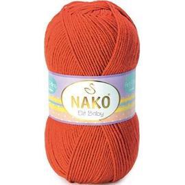 Пряжа Nako Elit Baby - 10701 коралл, Цвет: 10701 коралл