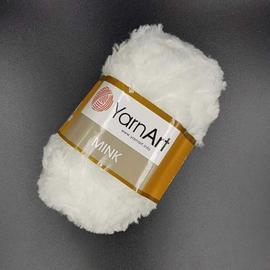 Пряжа Yarnart Mink - 330 белый, Цвет: 330 белый