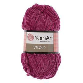Пряжа Yarnart Velour - 855 т.фуксия, Цвет: 855 т.фуксия
