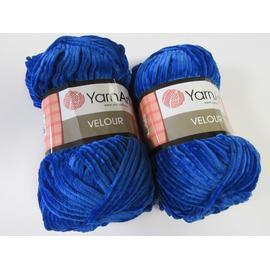 Пряжа Yarnart Velour - 857 ультрамарин, Цвет: 857 ультрамарин