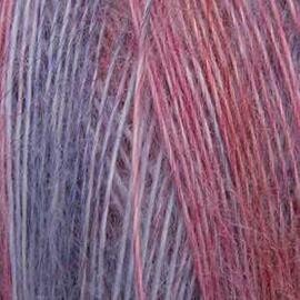 Пряжа Seam Angora Fine Print - 844 красный/сирень, Цвет: 844 красный/сирень