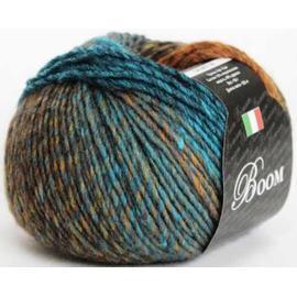 Пряжа Seam Boom - 48956 голубая бирюза/террак/коричневый, Цвет: 48956 голубая бирюза/террак/коричневый