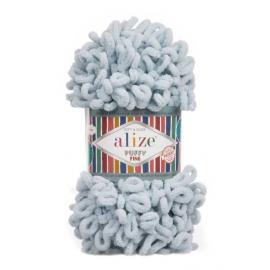 Пряжа Alize Puffy Fine - 500 пыл.голубой, Цвет: 500 пыл.голубой