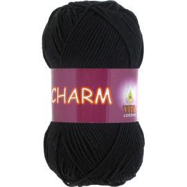 Пряжа Vita Cotton Charm - 4152 черный, Цвет: 4152 черный