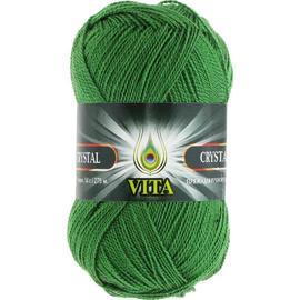 Пряжа Vita Crystal - 5677 зеленый, Цвет: 5677 зеленый