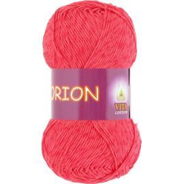 Пряжа Vita Cotton Orion - 4580 красный коралл, Цвет: 4580 красный коралл