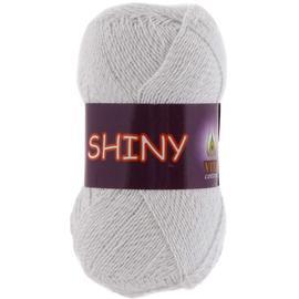 Пряжа Vita Cotton Shiny - 5061 белый/серебро, Цвет: 5061 белый/серебро