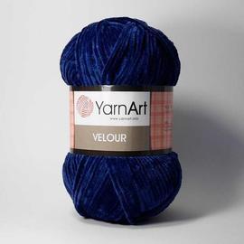 Пряжа Yarnart Velour - 848 темно-синий, Цвет: 848 темно-синий