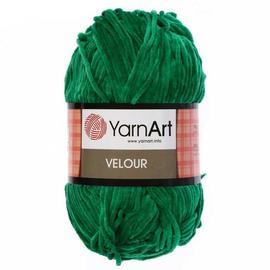 Пряжа Yarnart Velour - 856 яр.зелень, Цвет: 856 яр.зелень