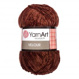 Пряжа Yarnart Velour - 852 коричневый, Цвет: 852 коричневый