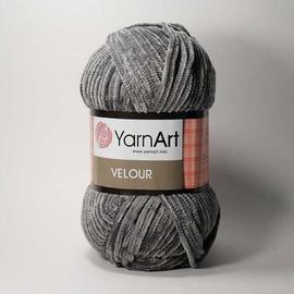Пряжа Yarnart Velour - 858 серый, Цвет: 858 серый