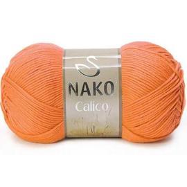 Пряжа Nako Calico - 4570 оранжевый, Цвет: 4570 оранжевый