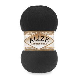 Пряжа Alize Angora Gold - 60 черный, Цвет: 60 черный