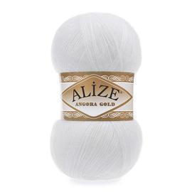 Пряжа Alize Angora Gold - 55 белый, Цвет: 55 белый