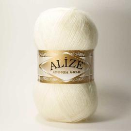 Пряжа Alize Angora Gold - 62 молочный, Цвет: 62 молочный