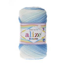 Пряжа Alize Sekerim Batik - 2130 бирюз/бел, Цвет: 2130 бирюз/бел
