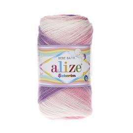 Пряжа Alize Sekerim Batik - 2135 роз/сир/бел, Цвет: 2135 роз/сир/бел