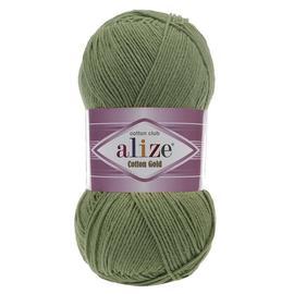 Пряжа Alize Cotton Gold - 485 дымчато-зеленый, Цвет: 485 дымчато-зеленый