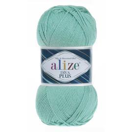 Пряжа Alize Diva Plus - 15 мята, Цвет: 15 мята