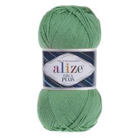 Пряжа Alize Diva Plus - 255 салат, Цвет: 255 салат