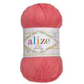Пряжа Alize Diva Baby - 379 коралл, Цвет: 379 коралл